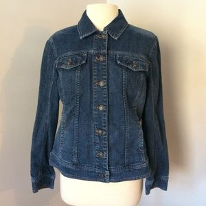 Coldwater Creek Denim Button Up Collar Jean Jacket